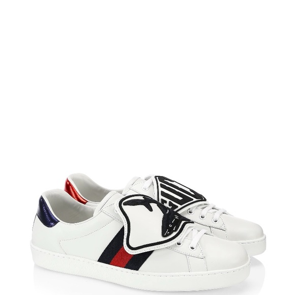 9cad9a581 Gucci Shoes   Ace Shark Patch Sneakers   Poshmark